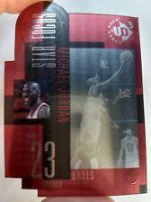 1996 96-97 Upper Deck UD3 Michael Jordan #23, Acetate Die Cut Insert, Bull HOF