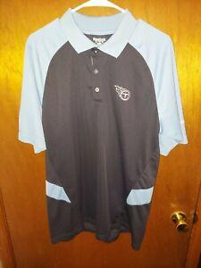 NFL Tennessee Titans Blue Golf Polo Shirt by Reebok Mens Medium