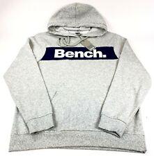 Bench Multipurpose City Clothing Mens 2XL Pocket Hoodie Sweatshirt Grey Blue NWT