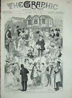 Original Old Antique Print Shaksperian Show Royal Albert Hall 1884 Costumes