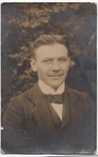 Portrait RP PPC, Named Heinrich Harms, 1913 Munster Lager PMK, Later POW Camp