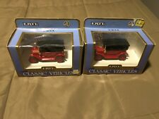Lot Of 2 Ertl 1912 Buick Dicast Cars~1:43 Scale~NIP