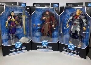"McFarlane DC Multiverse THE DEMON,KING SHAZAM & WONDER WOMEN 7"" . in hand .."
