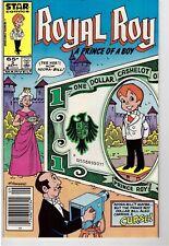 Royal Roy #3 Sept 1985 Marvel Star Comic Book Prince Of A Boy Dollar Bill Curse