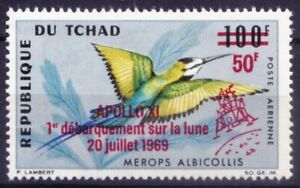 Chad 1969 MNH OVP, White-throated Bee-eater, Birds  - No Gum