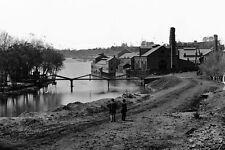 New 5x7 Civil War Photo: River View of Tredegar Iron Works in Richmond, Virginia
