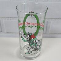 Goofy as Marley's Ghost 1982 Glass Tumbler Mickeys Christmas Carol Coca-Cola VTG