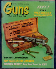 "Magazine *GUNS* Feb 1971 ""Cased"" History of COLT Part1, 1st LUGER Shooting Match"
