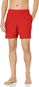 Nike Swim Men's Solid Lap 7-inch Volley Shorts University Red