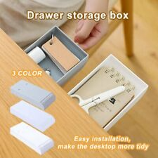 School Home Office Under Desk Storage Rack Adhesive Organizer Shelf Box @I