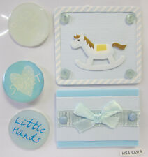 5 X Adhesive Baby Boy Scrapbooking Card Making & Craft Embellishment Stickers