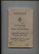 RENAULT camion type SX,tracteur SY ;catalogue de pièces de rechange 03/1932