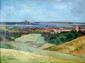 "Carl Kayser-Eichberg (1873-1964 Potsdam)""Am Feldmühle-Werk Stettin-Odermünde""/Öl"
