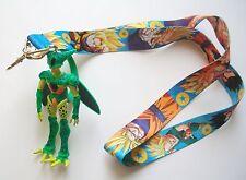 "4.25"" Dragon Ball Cell Mascot Charm Figur with Fabric Lanyard Key Chain"