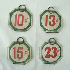 4 Vintage Store Price Tags with Wire Hangers  /  c 1930-40