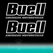2 ADESIVI BUELL AMERICAN MOTORCYCLES STICKERS PVC vynil DECAL moto 2 COLORI
