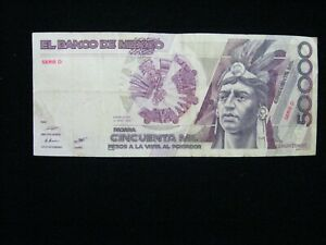 MEXICO 50,000 50000 PESOS 1990 P 93 UNC