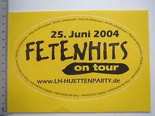 Aufkleber Sticker Hüttenparty on Tour - Fetenhits - Musik CD (M1522)