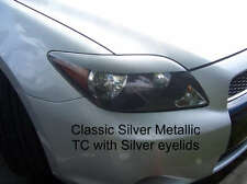 05-2010 Scion TC Headlight Eyelid Overlays -Gloss Silver Pre-Cut vinyl eye brows