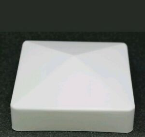 "5"" x 5"" Fence Post  Vinyl Cap Plastic White pyramid New England PVC 5X5 In"