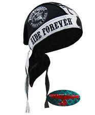 Ride Forever Bandana Foulard Bandeau capuche Biker Chopper Cap Motard Harley US skull