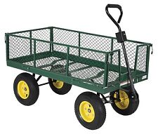 Vestil Lsc-2448-4Sd Steel Service Cart, Pneumatic Wheels, 1000 lbs Load Capacity