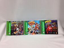 Vintage Lot Playstation Crash Bandicoot Cortex Strikes Back, Warped & Crash Bash