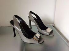 Schuhe Damenschuhe Sandalen Peep Toe Laurel Gr. 37 Leder grau wie neu