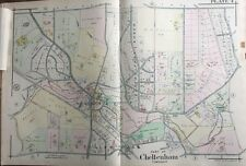 1916 A.H. Mueller Montgomery County, Pa, Cheltenham High School, Copy Atlas Map