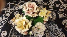 Capodimonte porcelain flower boquet