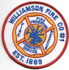 """Williamson  Fire Company - 1, New York  (3.75"""" round size) fire patch"""