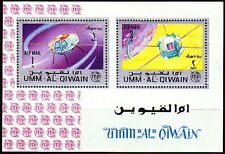 Umm al qiwain 1966 ** bl.5 a espacio satélites space satellites ITU