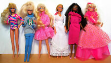 Lot of 6 Mattel Superstar Barbie Dolls - 1970s -'80s - Good to VGC