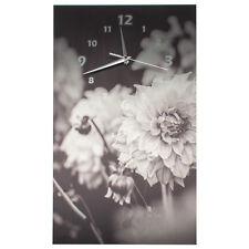 Designer Wanduhr Funkuhr leise modernes Design Blumenmotiv