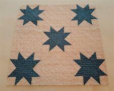 New listing Vintage Antique Indigo Star Quilt Piece ~ Subtle Red, White & Blue! ~ Beautiful!