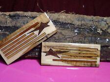 Patriotic 05 Laser Cut Ambrosia,Walnut,Cherry Epoxy Filled Knife Scales 5x2x1/4