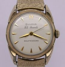 VINTAGE Bulova 23 Jewels Selfwinding Mens Automatic Watch = CLEAN = Sunray Dial