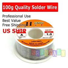 "60-40 Tin Lead Rosin Core Solder Wire Soldering Sn60 Pb40 Flux .039""/ 1.0mm 100g"