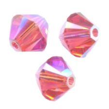 25 Toupies 4mm cristal Swarovski - PADPARADSCHA AB2X  5328 XILION - NEW