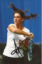 TENNIS: IPEK SOYLU SIGNED 6x4 ACTION PHOTO+COA *WIMBLEDON*
