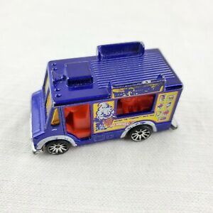 Hot Wheels 1983 Mike McCone's Ice Cream Truck Blue Mattel Diecast Vintage Toy