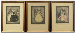 3 LITOGRAFIE ART DECO' / JENNIE HARBOUR DIS. / RAPHAEL TUCK & SONS (LONDON) Ltd.