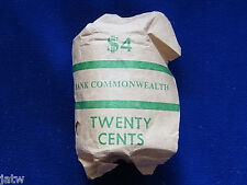 1966  20c Mint Roll.......(20 coins  UNC/BU)  Commonwealth Bank wrapper