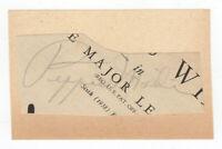 Pepper Martin Cut Signature! Autograph! St. Louis Cardinals! 1931 World Series!