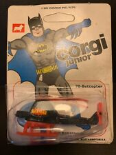 Corgi Junior Batman Batcopter #78 1976 On Card But Bubble Unseale One End 51039