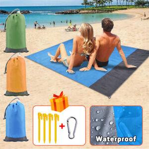 Light Weight Sand Free Beach Mat Outdoor Travel Camping Beach Portable FoldabLD