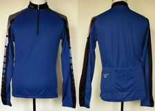 SUGOI Adrenalink Blue Long Sleeve 1/2 Zip Polyester Bike Cycling Jersey L