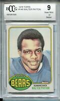 1976 Topps Football #148 Walter Payton Rookie Card RC Beckett Graded BCCG 9