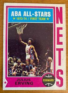1974 Topps Julius Erving New York Nets #200 Basketball Card