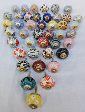 2.5 Inch Ceramic Door Knobs Multi Color Drawer Pull Furniture Cabinet Lot of 42